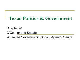 Texas Politics & Government