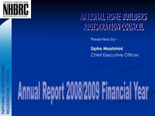 NATIONAL HOME BUILDERS REGISTRATION COUNCIL