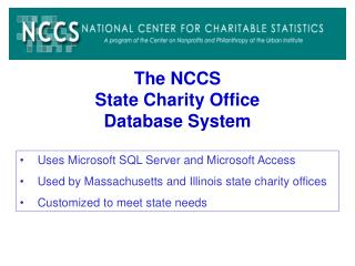 The NCCS State Charity Office  Database System