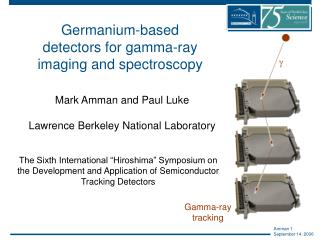 Germanium-based detectors for gamma-ray imaging and spectroscopy