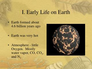 I. Early Life on Earth