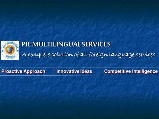 PIE MULTILINGUAL SERVICES
