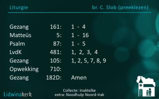 Liturgie br. C. Slob ( preeklezen )