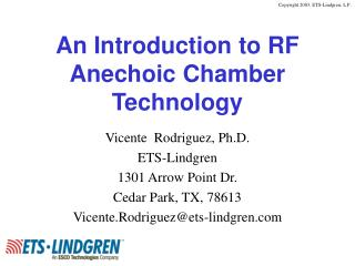 An Introduction to RF  Anechoic Chamber  Technology