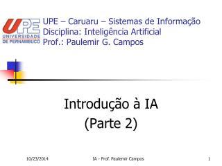 Introdução à IA (Parte 2)