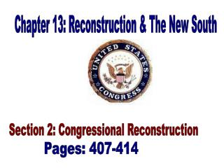 Chapter 13: Reconstruction & The New South