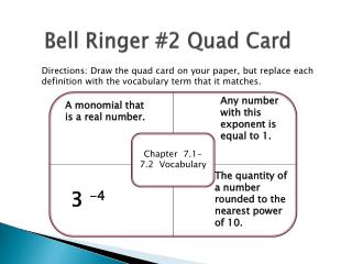 Bell Ringer #2 Quad Card