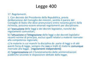 Legge 400