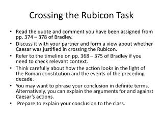 Crossing the Rubicon Task