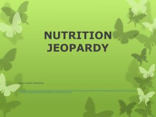 NUTRITION JEOPARDY