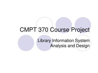 CMPT 370 Course Project
