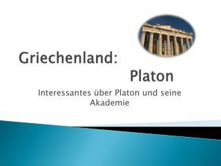 Griechenland: Platon
