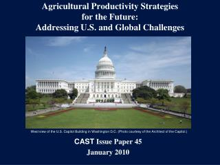 Agricultural Productivity Strategies for the Future: Addressing U.S. and Global Challenges
