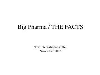 Prescription for profit