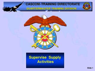 Supervise  Supply  Activities