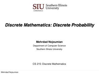 Discrete Mathematics : Discrete Probability