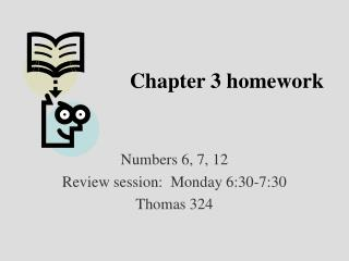 Chapter 3 homework