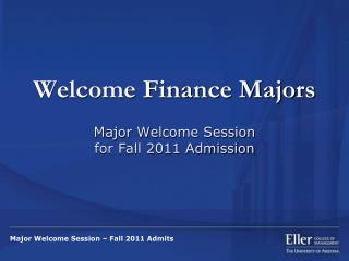 Welcome Finance Majors
