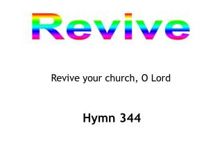 Revive your church, O Lord