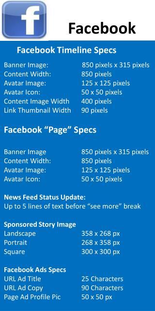 Facebook Timeline Specs