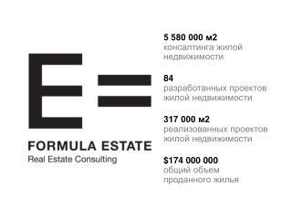 5 580 000 м2 консалтинга жилой недвижимости 84 разработанных проектов жилой недвижимости