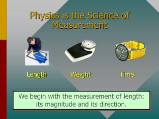 Physics is the Science of Measurement