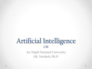 Artificial Intelligence CIS