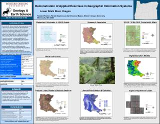 Demonstration of Applied Exercises in Geographic Information Systems