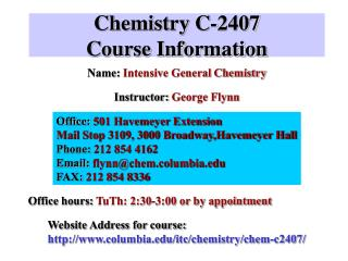 Chemistry C-2407 Course Information