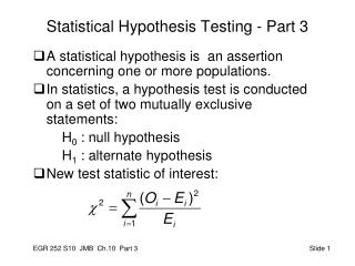 Statistical Hypothesis Testing - Part 3