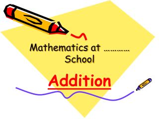 Mathematics at ………… School