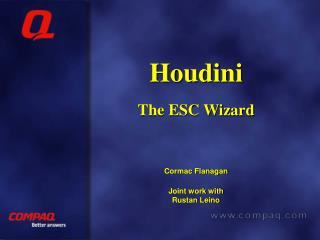 Houdini The ESC Wizard