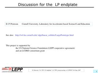 Discussion for the LP endplate