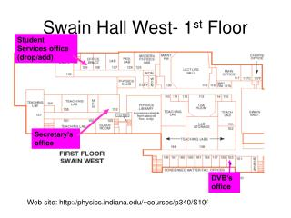 Swain Hall West- 1 st  Floor