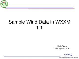 Sample Wind Data in WXXM 1.1