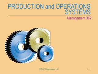 PRODUCTION and OPERATIONS SYSTEMS