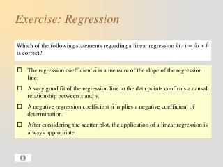 Exercise: Regression