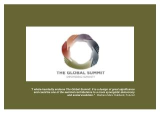 The Global Summit Empowering the Inevitable Partnership of Humanity