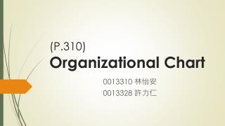 (P.310) Organizational Chart