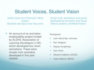 Student Voices, Student Vision