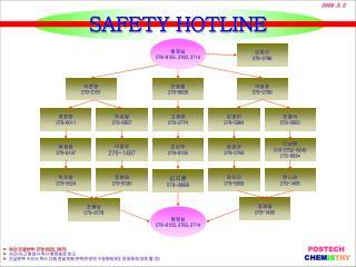 SAFETY HOTLINE
