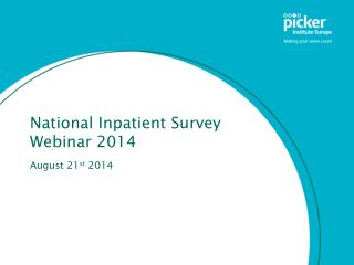 National Inpatient Survey Webinar 2014