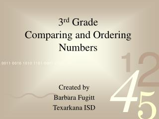 3 rd Grade Comparing and Ordering Numbers