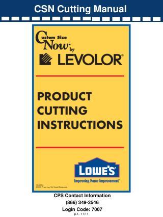 CSN Cutting Manual