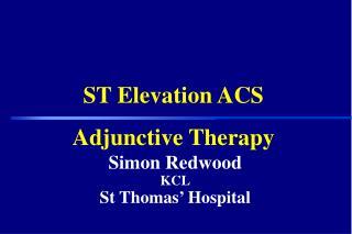 Simon Redwood KCL St Thomas' Hospital
