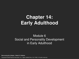 Chapter 14: Early Adulthood