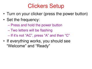 Clickers Setup