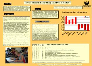How do Students Really Study (and Does it Matter)?