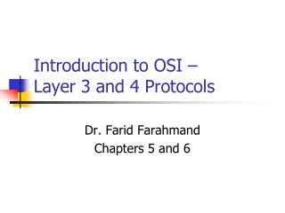Introduction to OSI –  Layer 3 and 4 Protocols