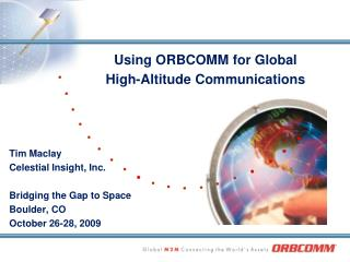 Using ORBCOMM for Global High-Altitude Communications